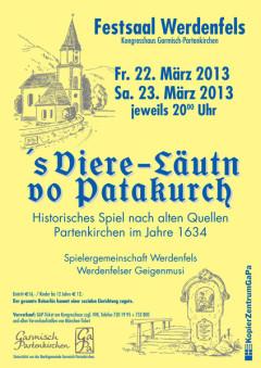 Plakat 's Viere-Läutn vo Patakurch